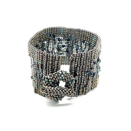 Loom Woven Cuff Bracelet by Julie Powell