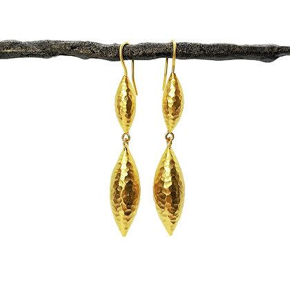 Double Drop Earrings by Prehistoric Works