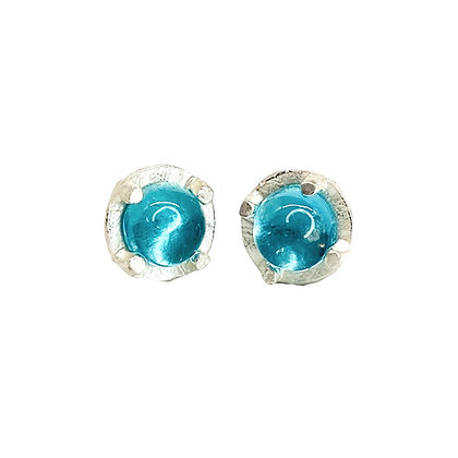 6mm Apatite Stud Earrings by Heather Guidero