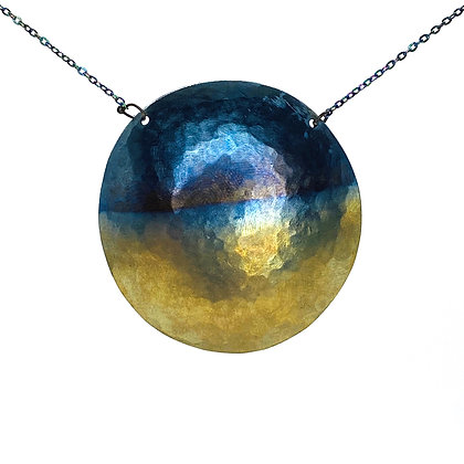 Domed Disc Pendant Necklace