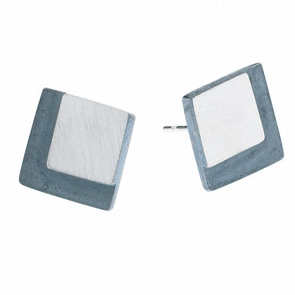 Eclipse Large Square Stud Earrings | 9mm