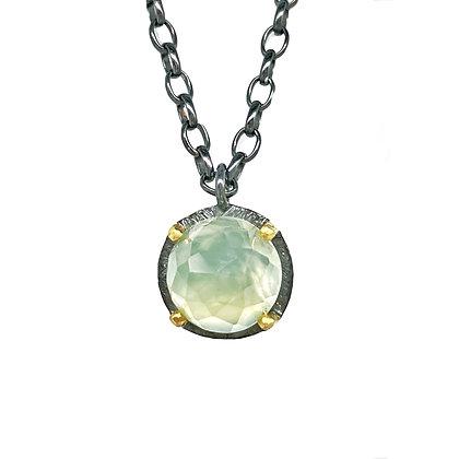 Prehnite Pendant Necklace by Heather Guidero