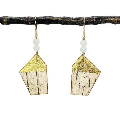 Amazonite Etruscan Earrings by Tessoro