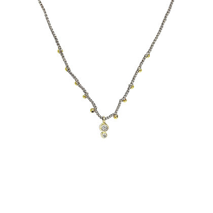 Crochet Silk Gold & Diamond Necklace by Hitomi Jacobs