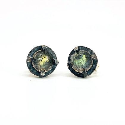 6mm Labradorite Stud Earrings by Heather Guidero