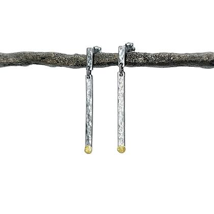Swinging Stick Earrings by Chrissy Liu