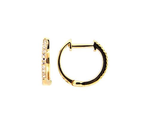 Diamond Small Huggy Earrings by Dilamani