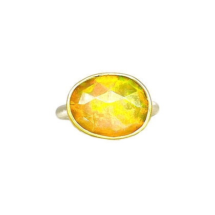 Rose Cut Ethiopian Opal Ring by Heather Guidero