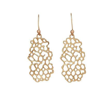 Molecule Bronze Earrings by Julie Cohn