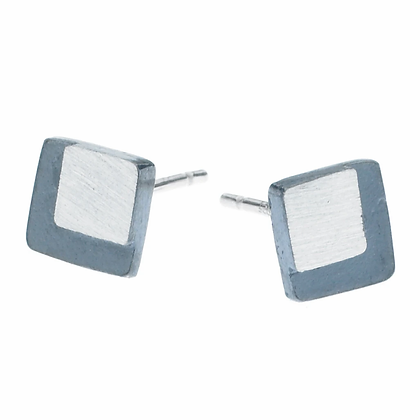 4mm Eclipse Small SquareStud Earrings by Heather Guidero