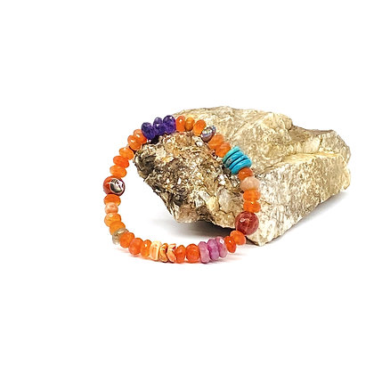 Carnelian Mix Bracelet by Riverstone