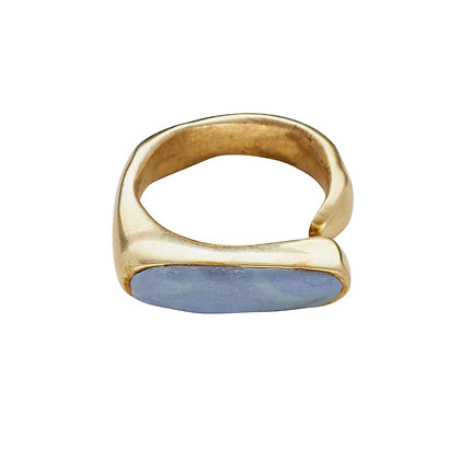 River Bronze Ivory Wedgewood Clay Ring