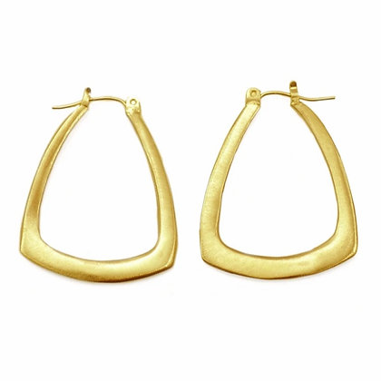 Large Triangle Hoops by Philippa Roberts
