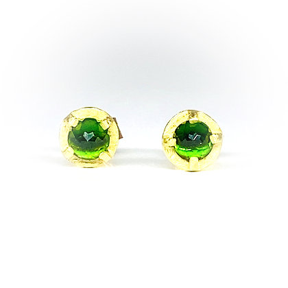 Chrome Diopside Stud Earrings | 4mm