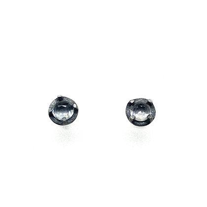 6mm White Topaz Stud Earrings by Heather Guidero