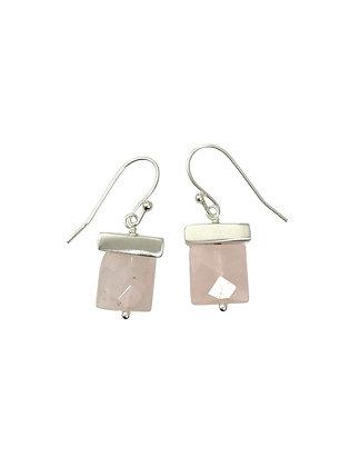 Rose Quartz Earrings by Philippa Roberts