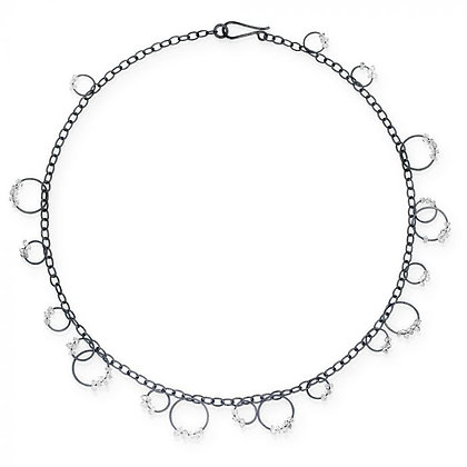 """17"""" Circle Bunches Necklace with Quartzby Heather Guidero"""