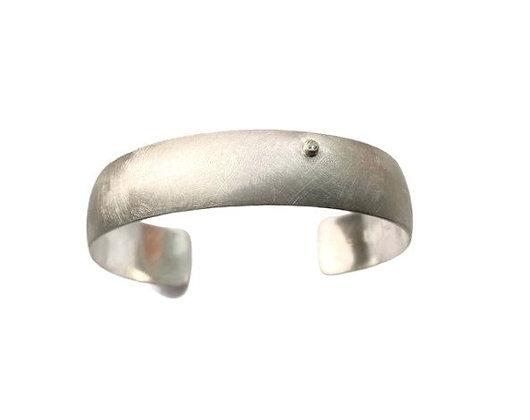 Diamond Half Round Cuff Bracelet by Chrissy Liu