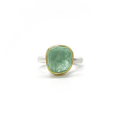 Faceted Beryl Ring by Heather Guidero