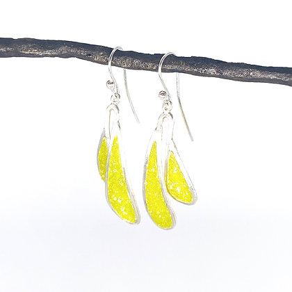 Small Flutter Earrings - Peridot