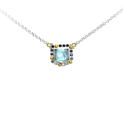 Aquamarine & Sapphire Dive-In Necklace by Lika Behar Collection