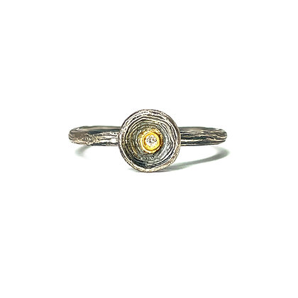 Diamond Stacking Ring by Prehistoric Works