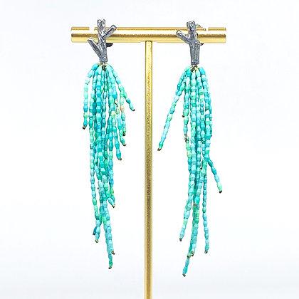 Turquoise Twig Earrings