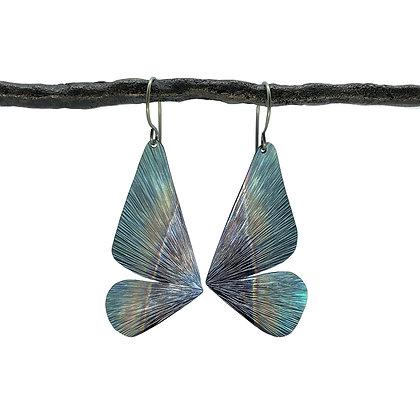 Large Butterfly Half Wing Earrings by Amie Plante