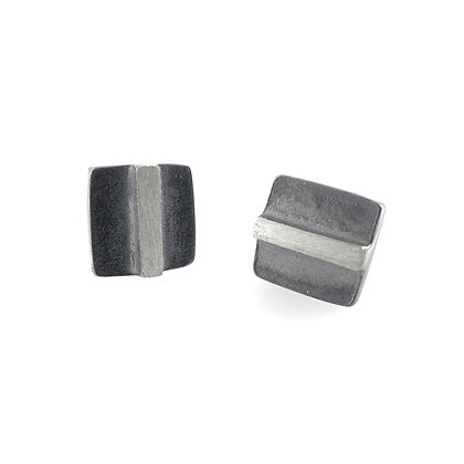 9mm Square LineEclipse Stud Earringsby Heather Guidero
