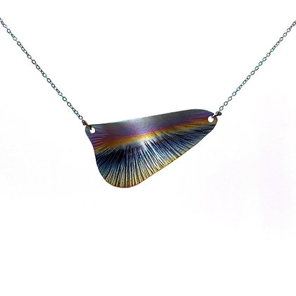Half Wing Pendant Necklace