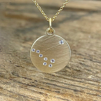 BIG DIPPER & NORTH STAR Diamond Constellation Necklace
