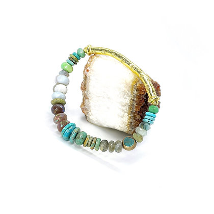 Ocean Gold Bar Bracelet by Riverstone