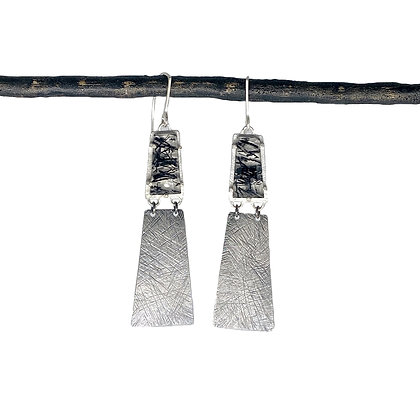 Carved Tourmalated Quartz Earringsby Heather Guidero