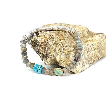 Twist Silver Bar Bracelet by Riverstone by Riverstone