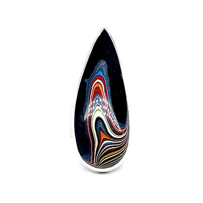 Fordite Teardrop Ring by Chrissy Liu