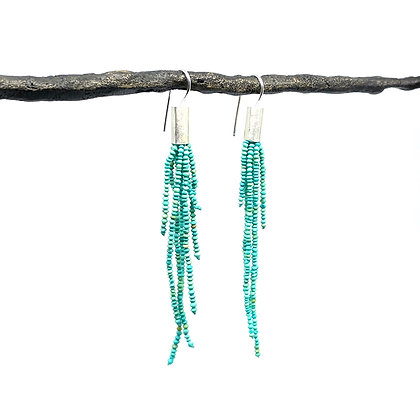 Contemporary Turquoise Earrings by Hitomi Jacobs