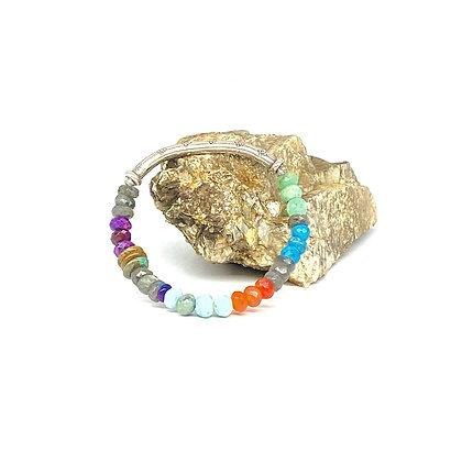 Twist Silver Bar Bracelet by Riverstone