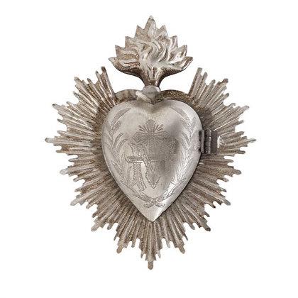 Decorative Milagro Heart Locket Ornament