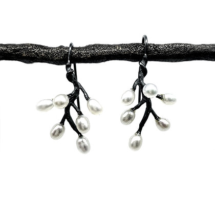 Dangling Sprig Earrings by Hitomi Jacobs