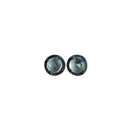 6mm Prehnite Stud Earrings by Heather Guidero