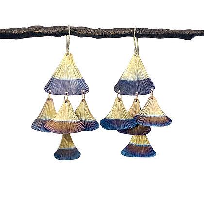 Fin Layered Chandelier Earrings