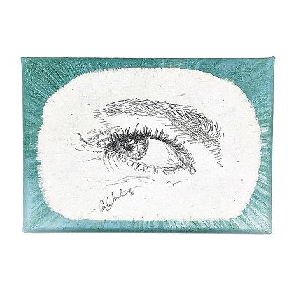 Aqua Blue Eye ArtworkbyCarolineTacker & Kymrie Designs