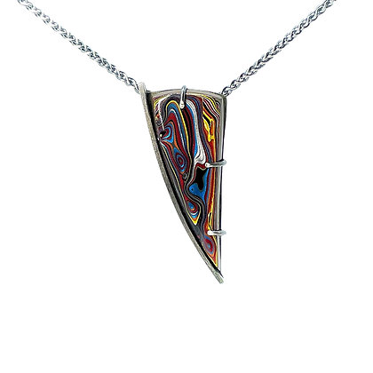 Fordite Triangle Necklace by Chrissy Liu
