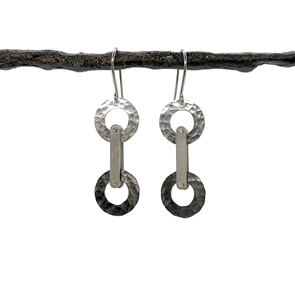 Hammered Circle Earrings by Tip-To-Toe