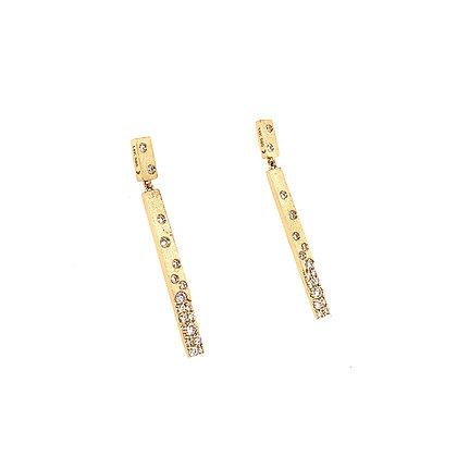 Diamond Flush Set 2 Station Bar Earrings