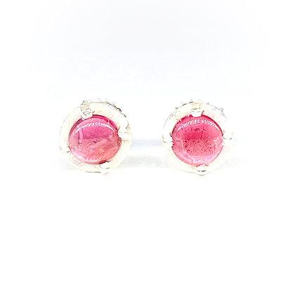 6mm Pink Tourmaline Stud Earrings by Heather Guidero
