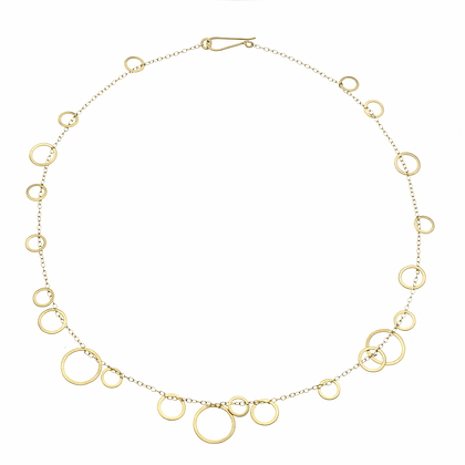 Circle Bunches Gold Necklace
