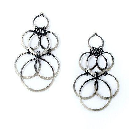 Forged Chandelier Earrings by Monique Rancourt