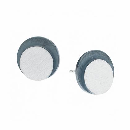 Eclipse LargeCircle Stud Earrings | 9mm