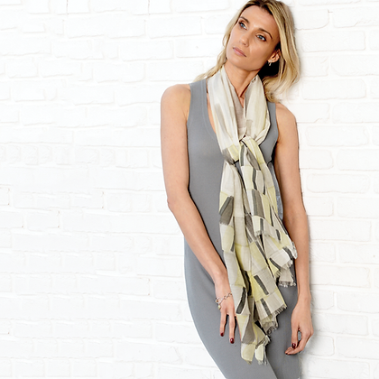 Tiles Scarf ~ Grey ~ by Lua